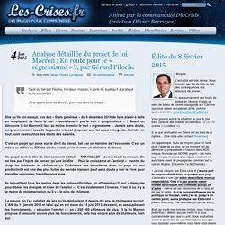 » Analyse détaillée du projet de loi Macron : En route pour le « régressisme » ?, par Gérard Filoche