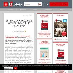 Analyse du discours de Jacques Chirac du 16 juillet 1995