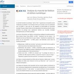 Analyse du marché de l'édition et édition numérique