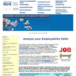 Analyse your employability skills