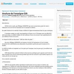 Analyse de l'enseigne Gifi - Étude de cas - dissertation