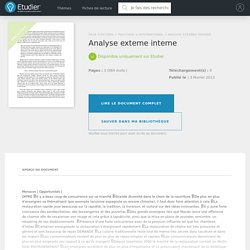 Analyse externe interne - Comptes Rendus - Fazze17