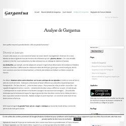 Analyse de Gargantua - Gargantua