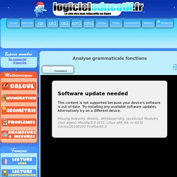 Analyse grammaticale fonctions