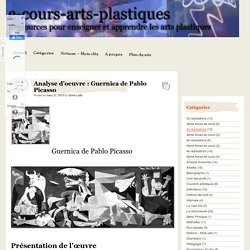 Analyse d'oeuvre : Guernica de Pablo Picasso