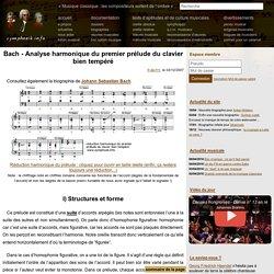 Bach - Analyse harmonique du premier prélude du clavier bien tempéré