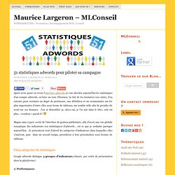 Analyse des indicateurs d'une campagne Google adwords