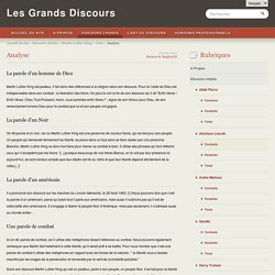 Analyse - Les Grands Discours