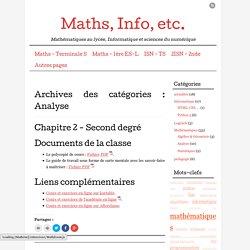 Maths, Info, etc.