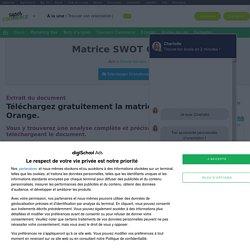 Analyse Matrice SWOT Orange