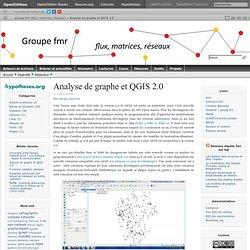 groupe fmr (flux, matrices, réseaux)