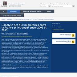 L'analyse des flux migratoires entre la France et l'étranger entre 2006 et 2013
