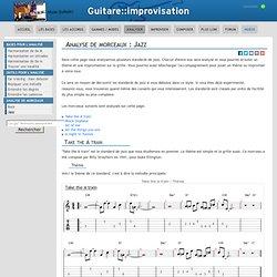 Analyse de morceaux : Jazz