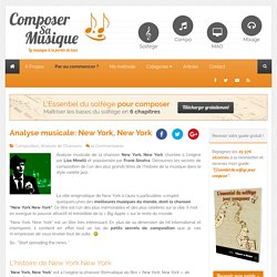 Analyse musicale: New York, New York