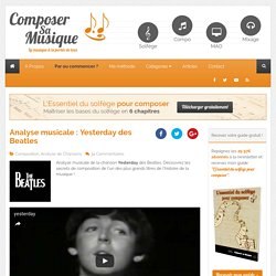 Analyse musicale Yesterday Beatles