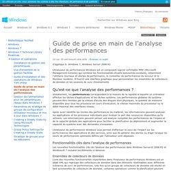 Guide de prise en main de l'analyse des performances pour Windows7 et Windows Server2008R2
