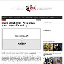Social Effort Scale : Axe analyse votre personal branding !
