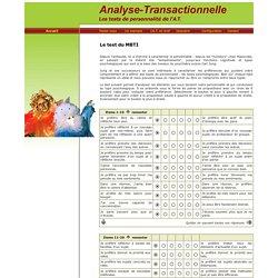 L'analyse en profils de personnalite, les tests jungiens, le MBTI