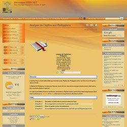 Analyse de l'épître aux Philippiens - Messages EEBI.NET