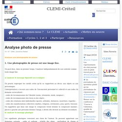 Analyse photo de presse