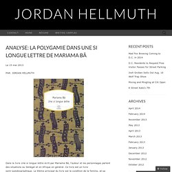 Analyse: La Polygamie dans Une si longue lettre de Mariama Bâ