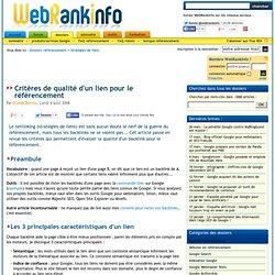 Analyse de la qualité des backlinks