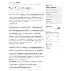 Analyse de réseaux : les logiciels - Quanti IHMC
