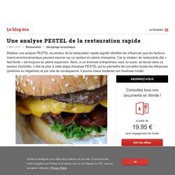 Une analyse PESTEL de la restauration rapide - blog Etudes-et-analyses.com