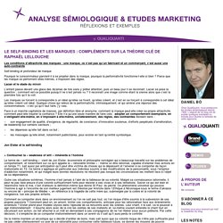 Analyse sémiologique & Etudes marketing