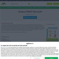 Analyse SWOT Microsoft