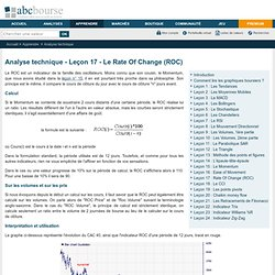 Le Rate Of Change (ROC)