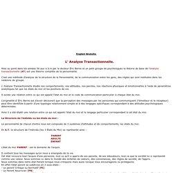 Analyse transactionnelle,les états du Moi