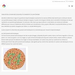Analyse – Vision des couleurs