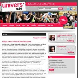 univers: Analyse 1): wat is er mis met de wetenschap - Malini Witlox