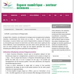 Espace numérique - secteur sciences