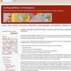 Analyser et discuter les cartes de risques : exemple à partir de l'Indice mondial des risques climatiques