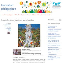 Analyser les actions éducatives : approche globale
