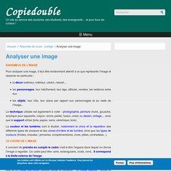 Analyser une image (copie double, site pour le scolaire)