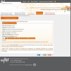 Analyser les textes avec Iramuteq, outil de statistique lexicale