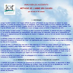 ANALYSER LES ACCIDENTS