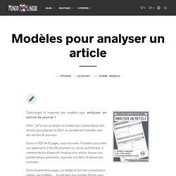 Modèles pour analyser un article