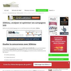 SEMvisu, analyser et optimiser ses campagnes SEO