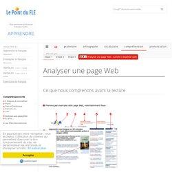 Analyser une page Web - Éducation aux médias