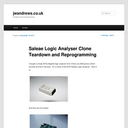 Saleae Logic Analyser Clone Teardown and Reprogramming