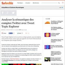 Analyser la sémantique des comptes Twitter avec Tweet Topic Explorer