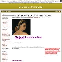 ANALYSER UNE OEUVRE/METHODE