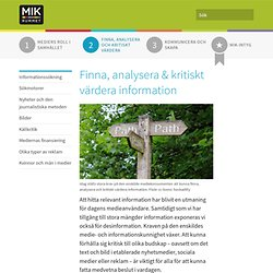Finna, analysera & kritiskt värdera information