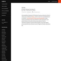 tude Eyetracking des sites de presse en ligne et leur publicité