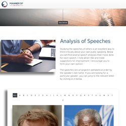 Analyses of Speeches