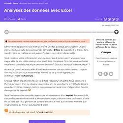 Analysez des données avec Excel